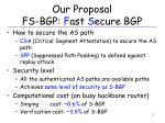 our proposal fs bgp f ast s ecure bgp