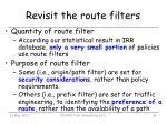 revisit the route filters