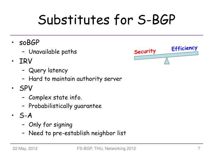 Substitutes for S-BGP