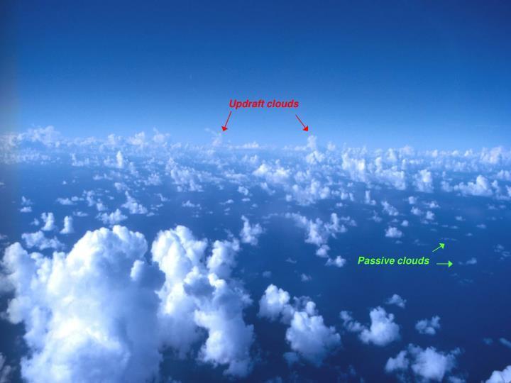 Updraft clouds