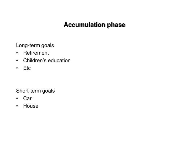 Accumulation phase