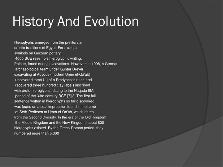 History And Evolution