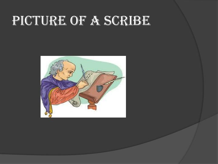 Picture of a Scribe