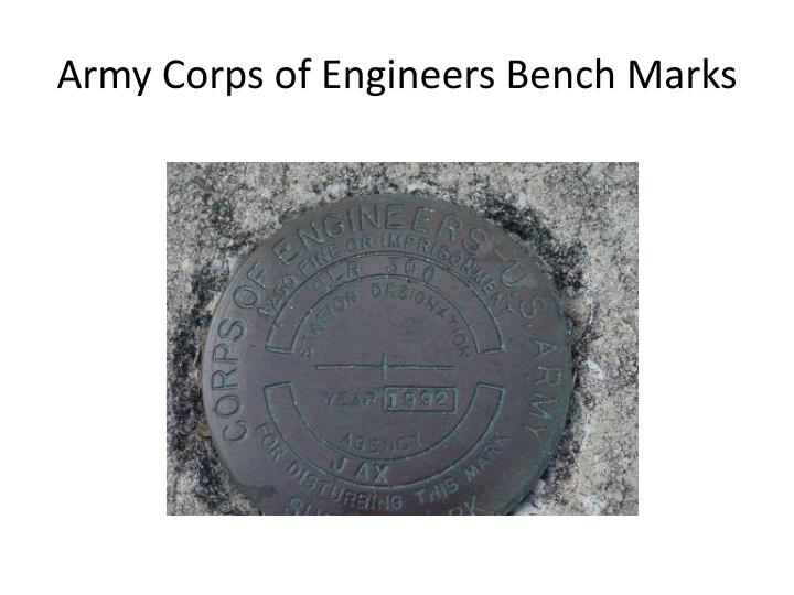 Army Corps of Engineers Bench Marks