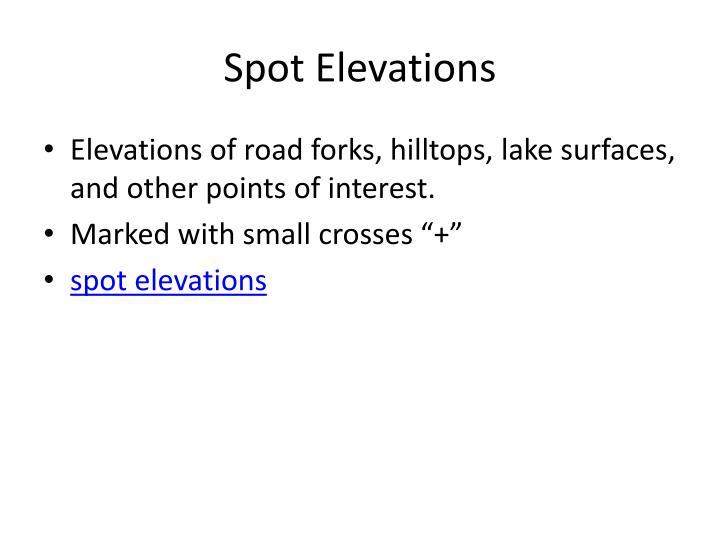 Spot Elevations