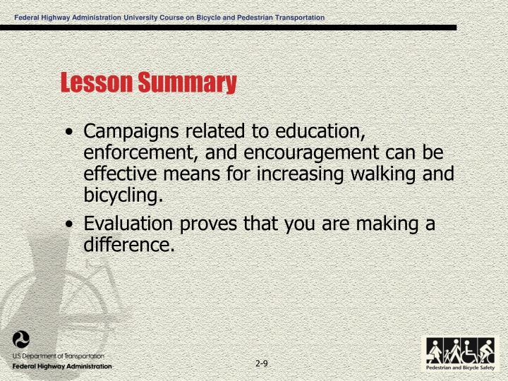 Lesson Summary