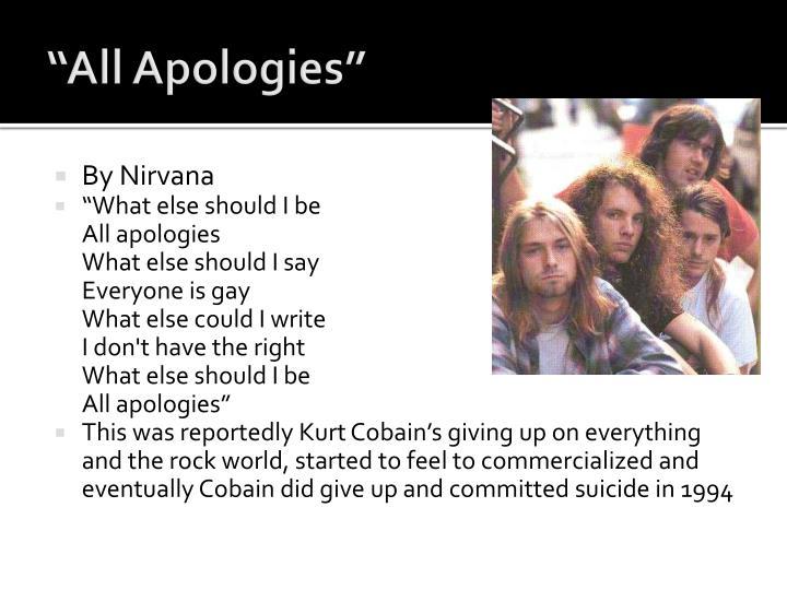 """""""All Apologies"""""""