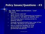 policy issues questions 3