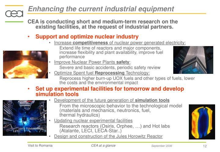Enhancing the current industrial equipment