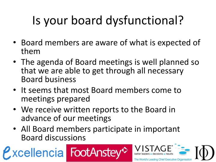 Is your board dysfunctional