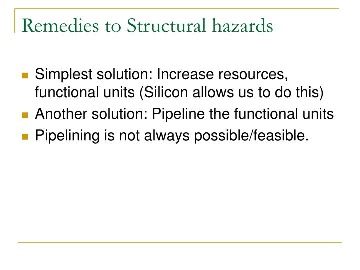 Remedies to Structural hazards