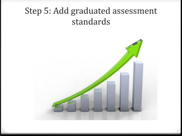 Step 5: Add graduated assessment standards