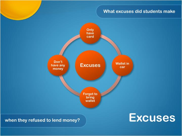 What excuses did students make