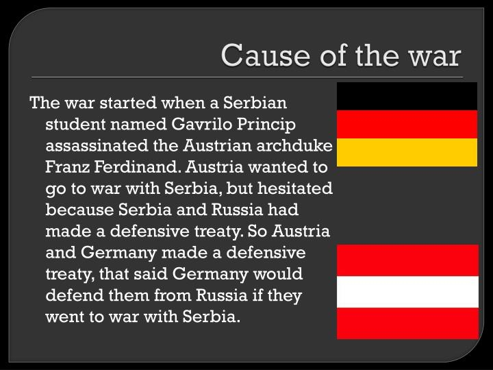 Cause of the war