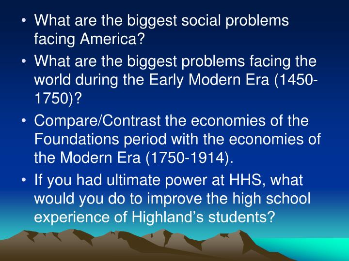 What are the biggest social problems facing America?
