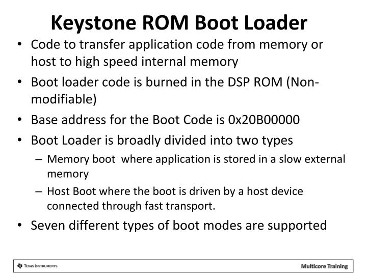Keystone ROM Boot Loader