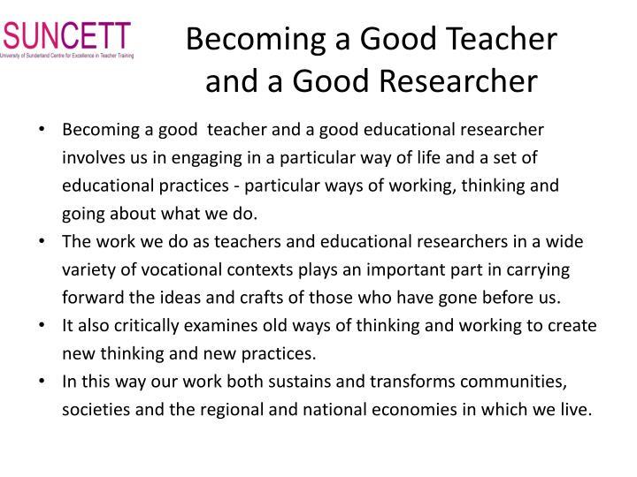 Becoming a Good Teacher
