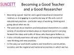 becoming a good teacher and a good researcher