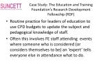 case study the education and training foundation s research development fellowship rdf