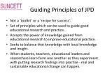 guiding principles of jpd