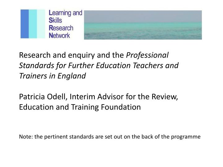 Research and enquiry and the