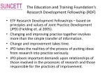 the education and training foundation s research development fellowship rdf