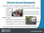 clinical record standards1