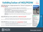 validity value of hes pedw