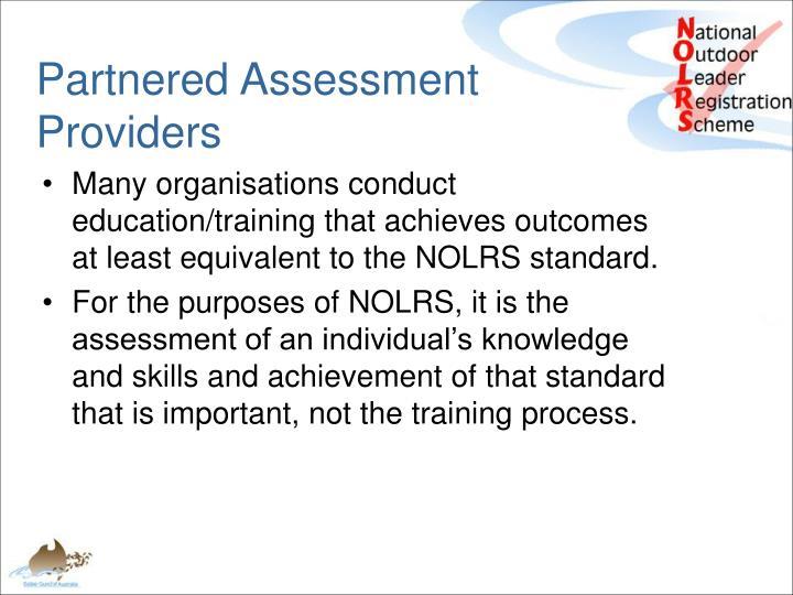 Partnered Assessment Providers