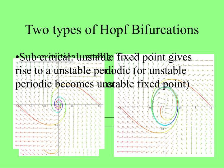 Two types of Hopf Bifurcations