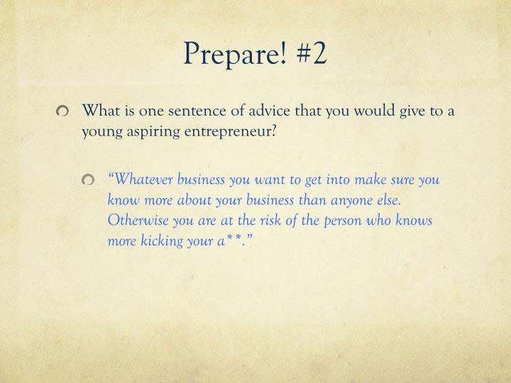 Prepare! #2