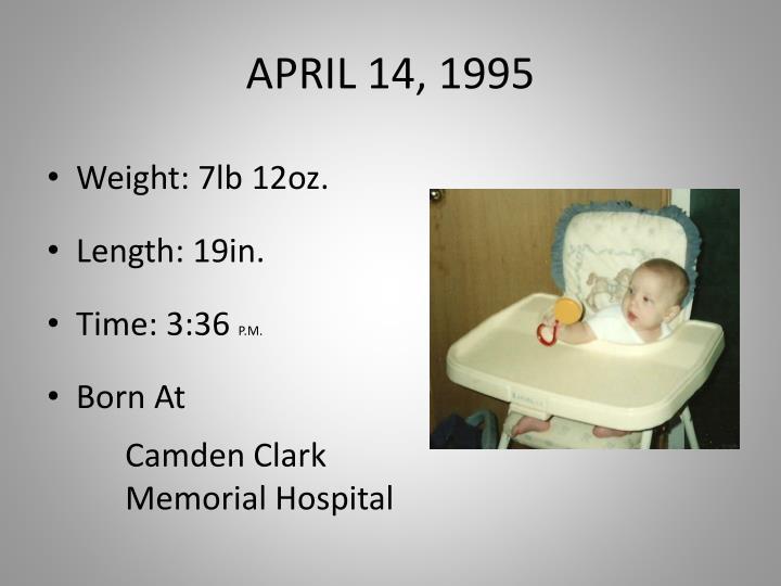 APRIL 14, 1995