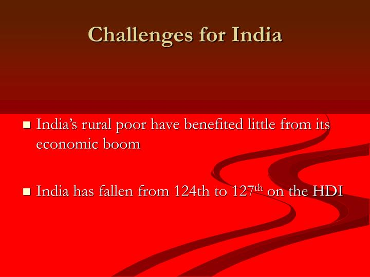 Challenges for India