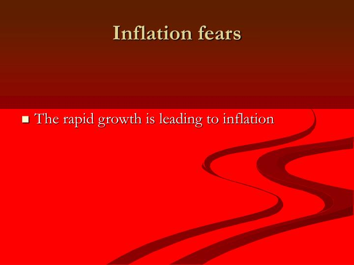Inflation fears