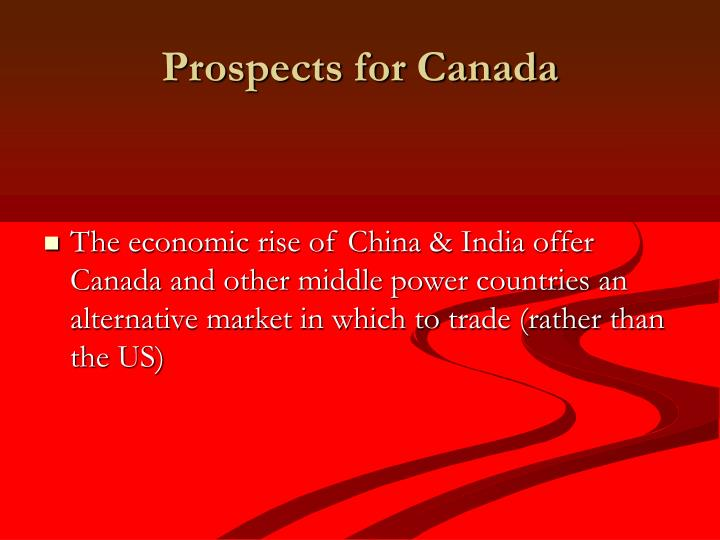 Prospects for Canada