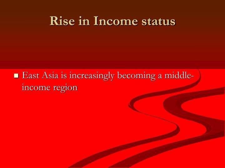 Rise in Income status