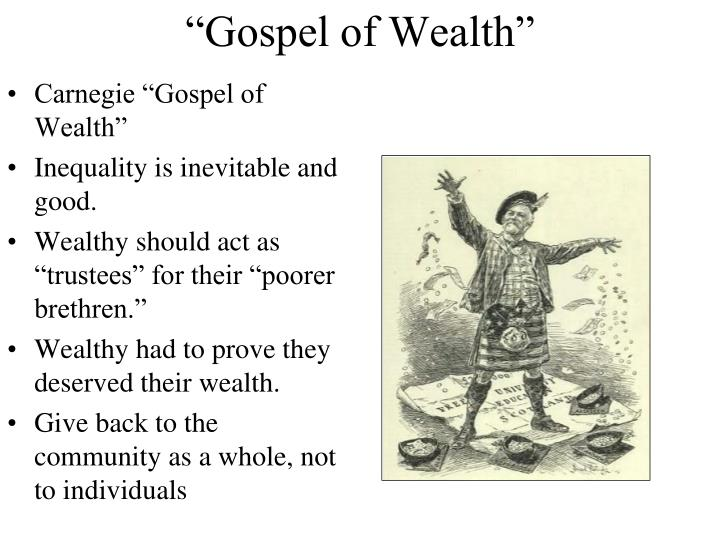 "Carnegie ""Gospel of Wealth"""