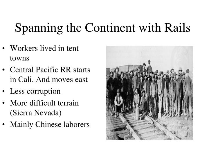 Workers lived in tent towns