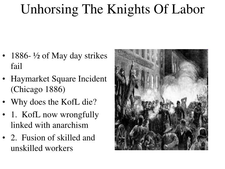 1886- ½ of May day strikes fail
