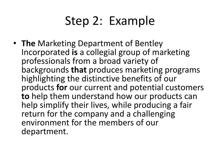 Step 2:  Example