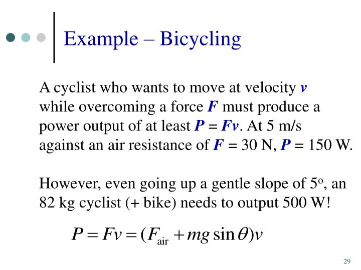 Example – Bicycling