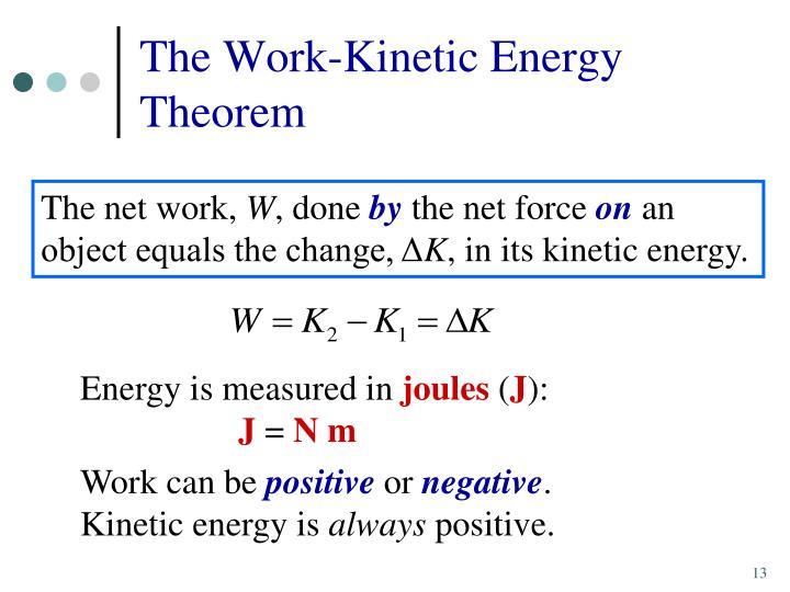 The Work-Kinetic Energy Theorem
