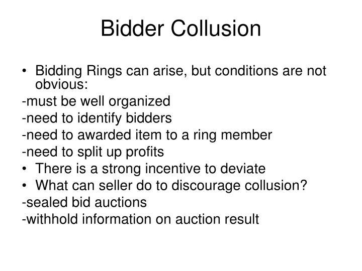 Bidder Collusion