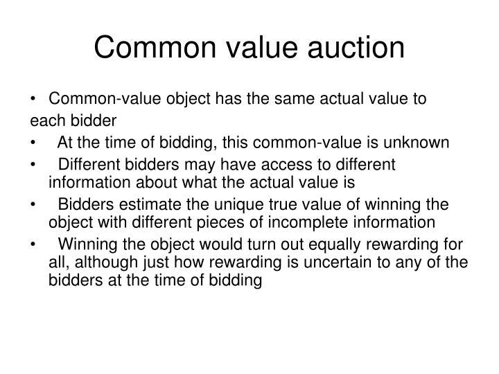 Common value auction