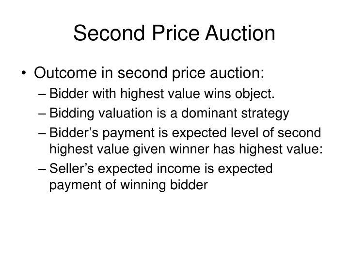 Second Price Auction
