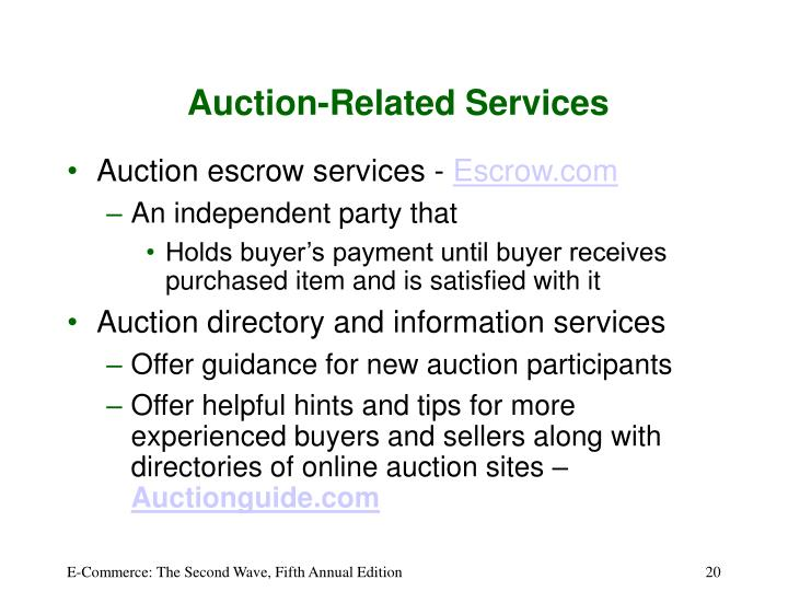 Auction-Related Services