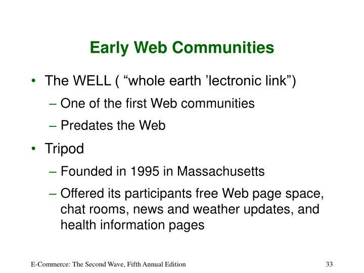 Early Web Communities