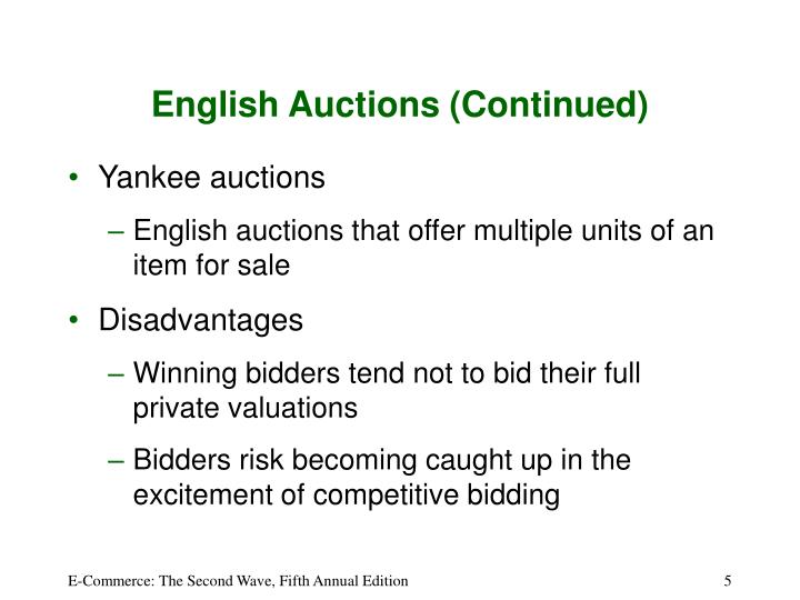 English Auctions (Continued)