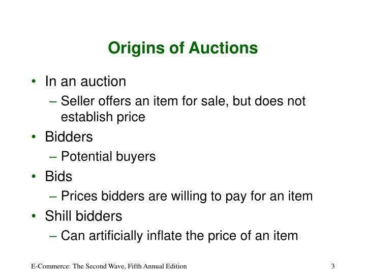 Origins of auctions