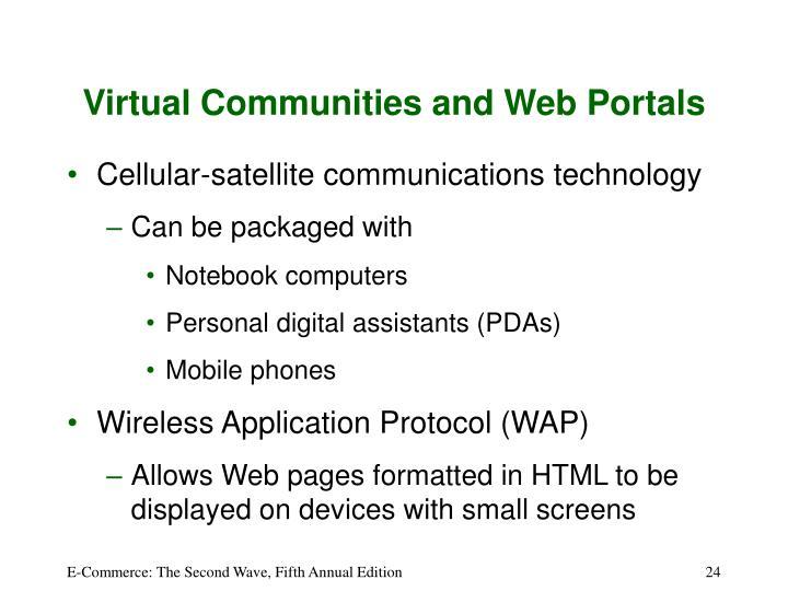 Virtual Communities and Web Portals